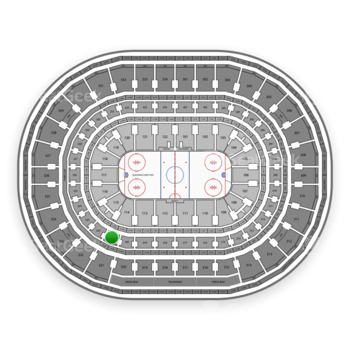 Chicago Blackhawks at United Center Section 221 View