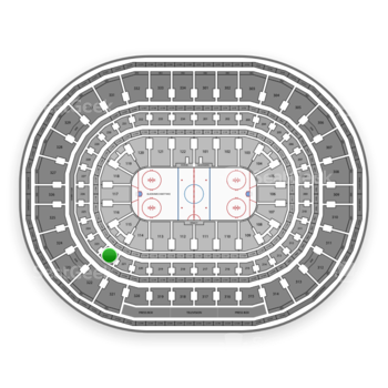 Chicago Blackhawks at United Center Section 222 View