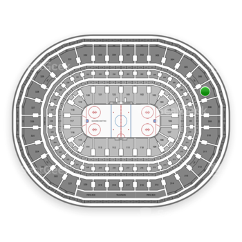 Chicago Blackhawks at United Center Section 307 View