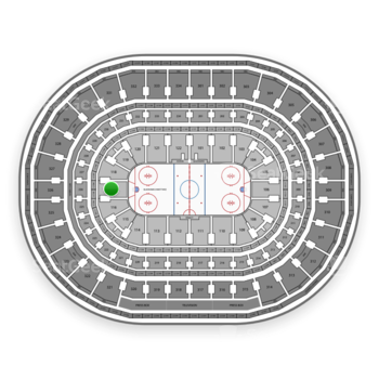 Chicago Blackhawks at United Center Section 117 View