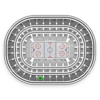 Chicago Blackhawks at United Center Section 319 View