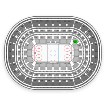 Chicago Blackhawks at United Center Section 104 View