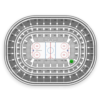 Chicago Blackhawks at United Center Section 108 View