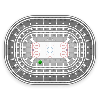 Chicago Blackhawks at United Center Section 113 View