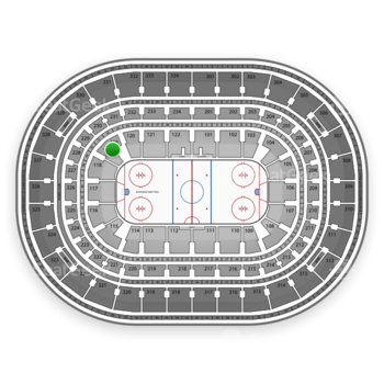 Chicago Blackhawks at United Center Section 119 View