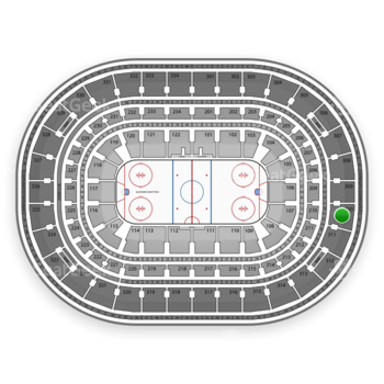 Chicago Blackhawks at United Center Section 310 View