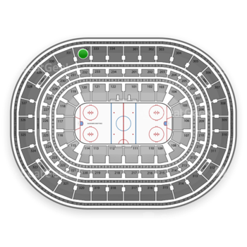 Chicago Blackhawks at United Center Section 332 View