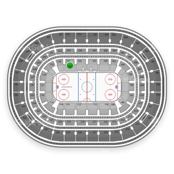 NHL at United Center Section 121 View