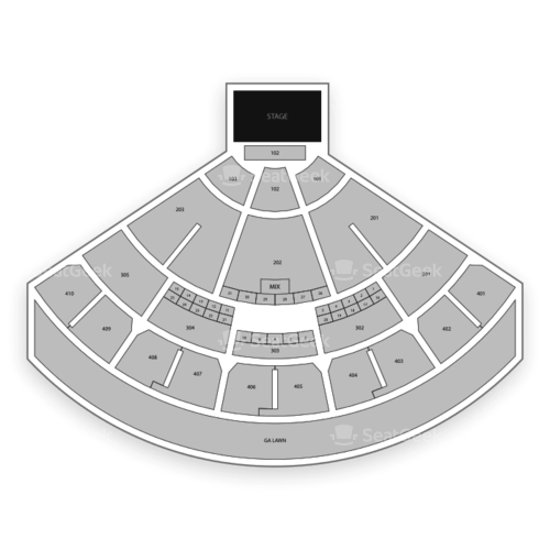 Budweiser Stage Seating Chart Concert