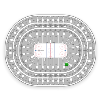 Montreal Canadiens at Bell Centre Section 110 View