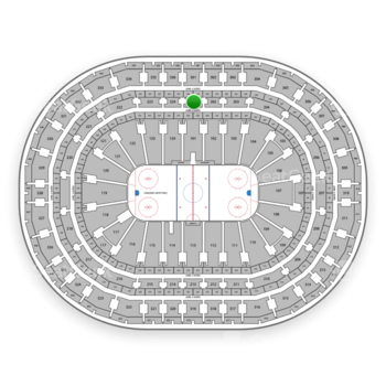 Montreal Canadiens at Bell Centre Section 201 View