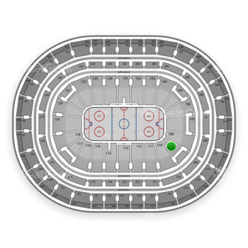 Montreal Canadiens at Bell Centre Section 109 View