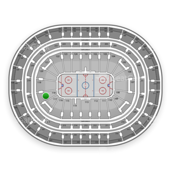 Montreal Canadiens at Bell Centre Section 118 View