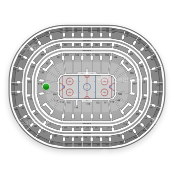Montreal Canadiens at Bell Centre Section 119 View