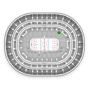 Montreal Canadiens at Bell Centre Section 104 View