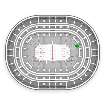Montreal Canadiens at Bell Centre Section 106 View