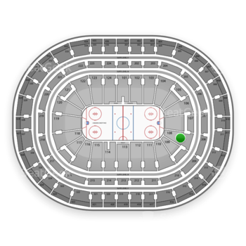 Montreal Canadiens at Bell Centre Section 108 View