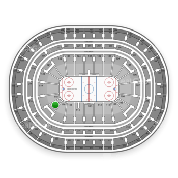 Montreal Canadiens at Bell Centre Section 117 View