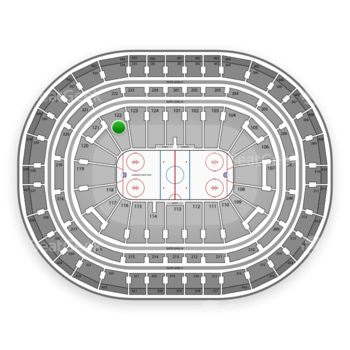 Montreal Canadiens at Bell Centre Section 122 View
