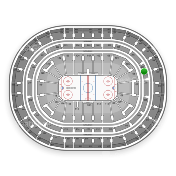 Montreal Canadiens at Bell Centre Section 206 View