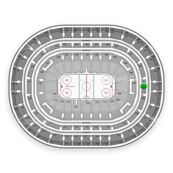 Montreal Canadiens at Bell Centre Section 207 View