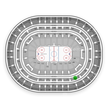 Montreal Canadiens at Bell Centre Section 210 View