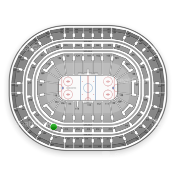 Montreal Canadiens at Bell Centre Section 216 View