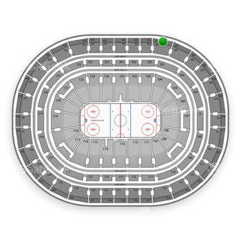 Montreal Canadiens at Bell Centre Section 404 View