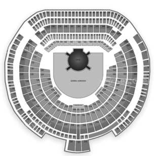 O.co Coliseum Seating Chart Concert