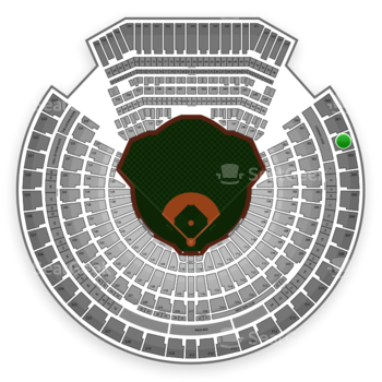 Oakland Athletics at O.co Coliseum Section 302 View