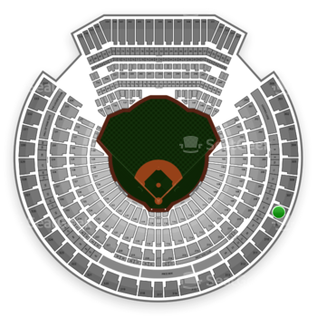 Oakland Athletics at O.co Coliseum Section 308 View