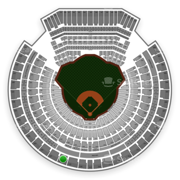 Oakland Athletics at O.co Coliseum Section 320 View