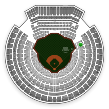 Oakland Athletics at Oakland Coliseum Section 102 View