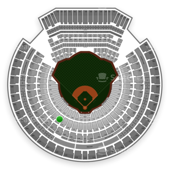 Oakland Athletics at Oakland Coliseum Section 122 View