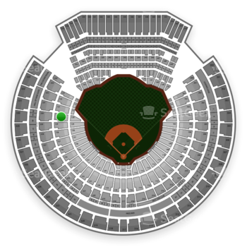 Oakland Athletics at Oakland Coliseum Section 130 View