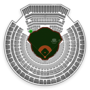 Oakland Athletics at Oakland Coliseum Section 135 View