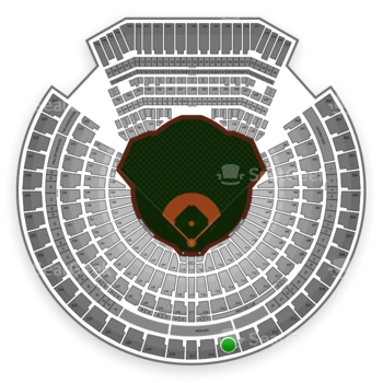 Oakland Athletics at Oakland Coliseum Section 315 View