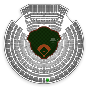 Oakland Athletics at Oakland Coliseum Section 316 View