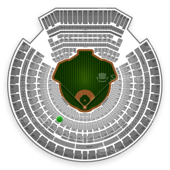 Oakland Athletics at O.co Coliseum Section 122 View