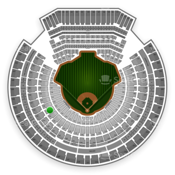 Oakland Athletics at O.co Coliseum Section 125 View