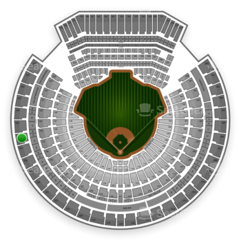 Oakland Athletics at O.co Coliseum Section 328 View