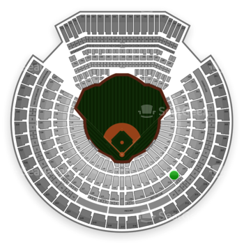 Oakland Athletics at Overstock.com Coliseum (formerly Oakland Coliseum) Section 211 View