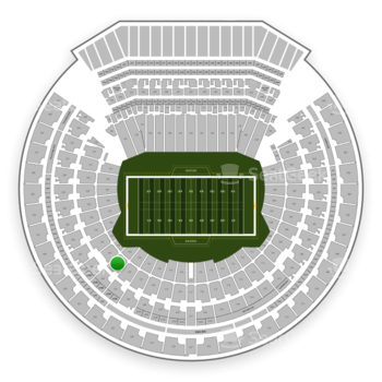 Oakland Raiders at Oakland-Alameda County Coliseum Section 123 View