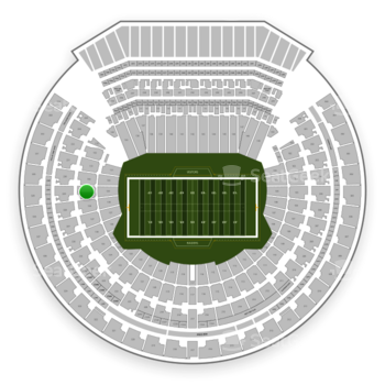 Oakland Raiders at Oakland-Alameda County Coliseum Section 129 View