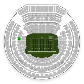 Oakland Raiders at Oakland-Alameda County Coliseum Section 130 View