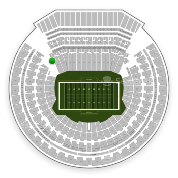 Oakland Raiders at Oakland-Alameda County Coliseum Section 134 View