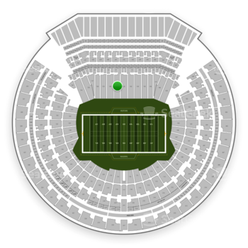 Oakland Raiders at Oakland-Alameda County Coliseum Section 141 View