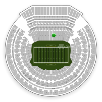 Oakland Raiders at Oakland-Alameda County Coliseum Section 143 View