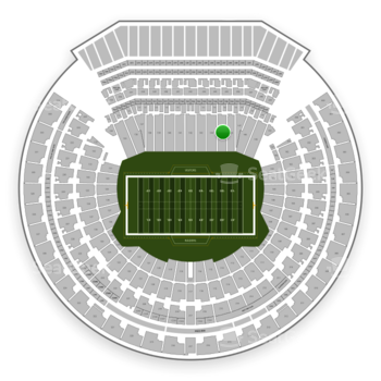 Oakland Raiders at Oakland-Alameda County Coliseum Section 145 View