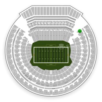 Oakland Raiders at Oakland-Alameda County Coliseum Section 200 View